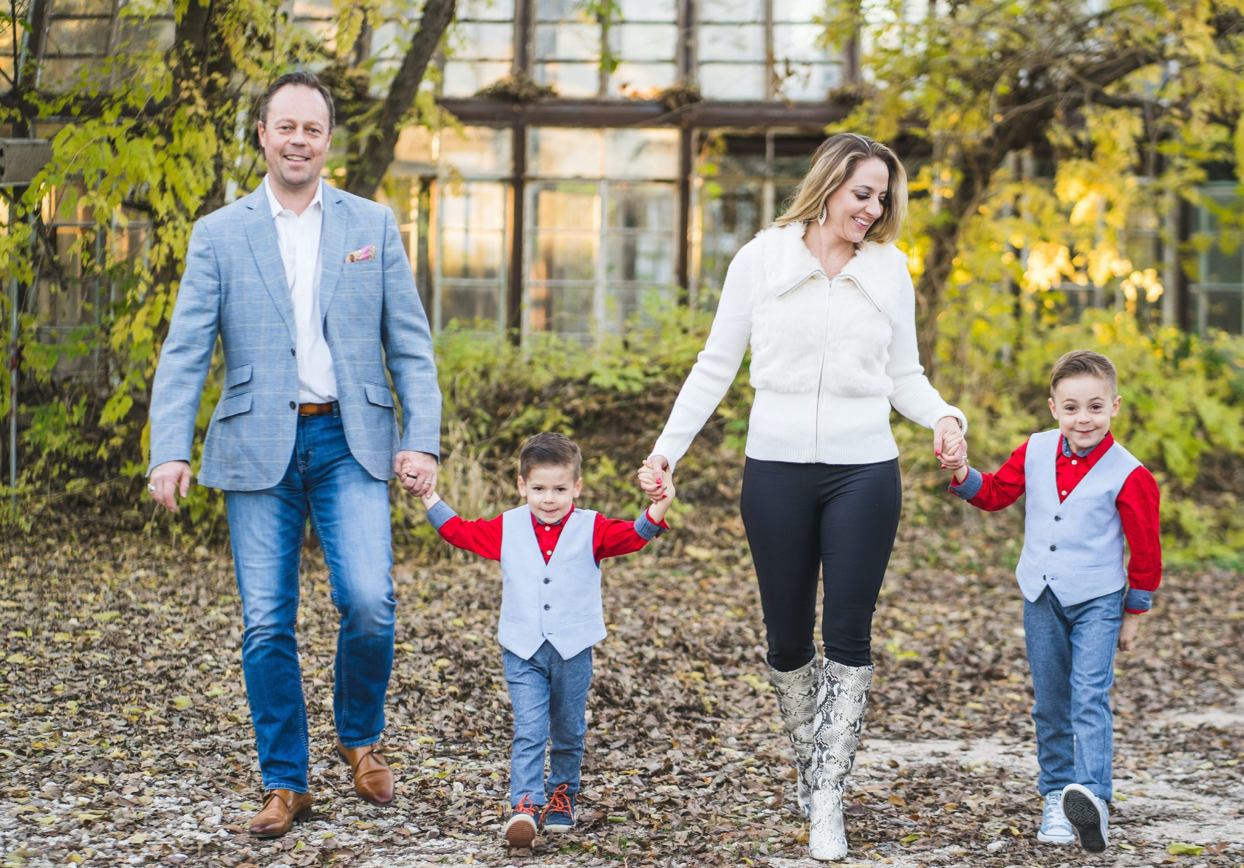 Priscilla Hardenne, owner of Style and Beauty by Priscilla, and her family