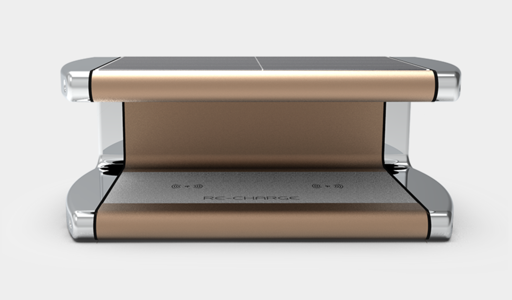Solar Charger in Rose Gold 1
