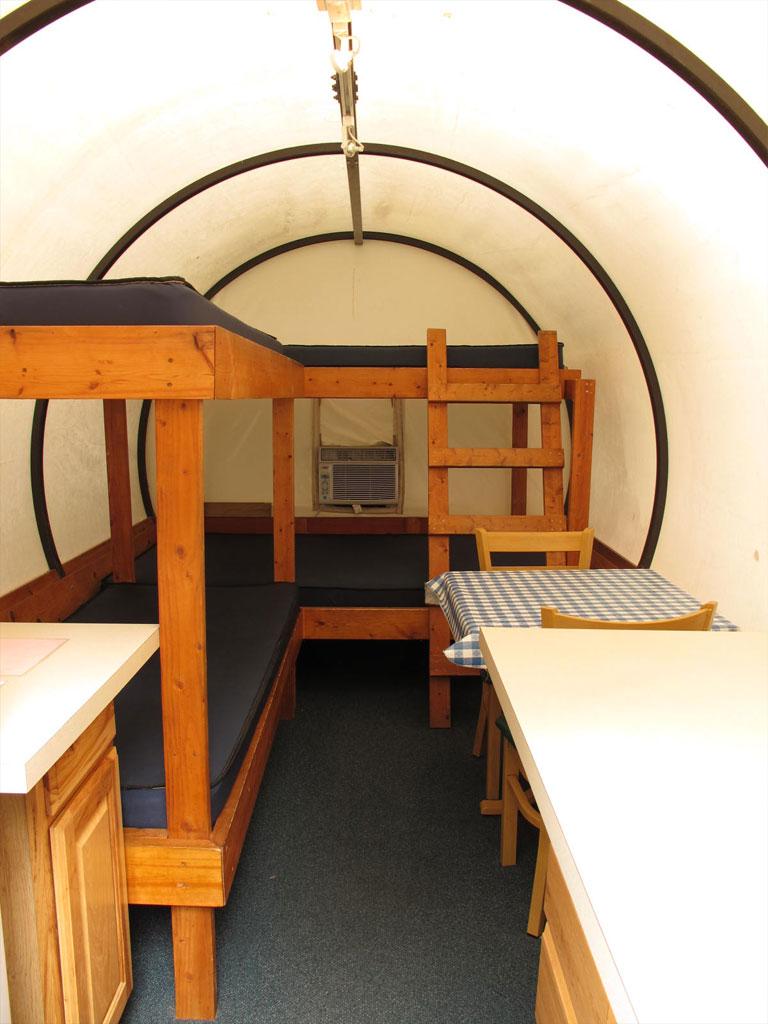 Covered Wagons Sleeping Area