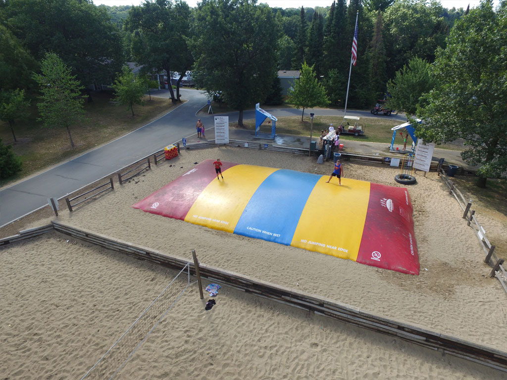 Jumping Pillow and Volleyball Courts