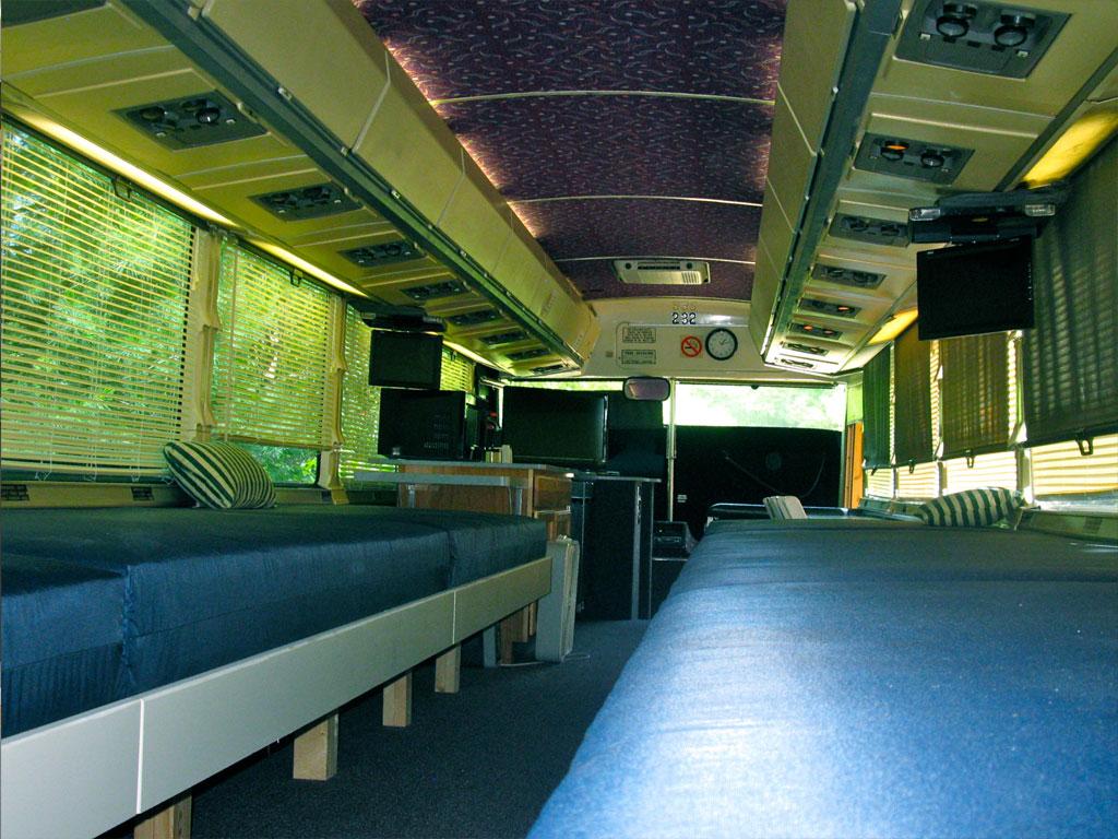 Motor Coach interior bunks