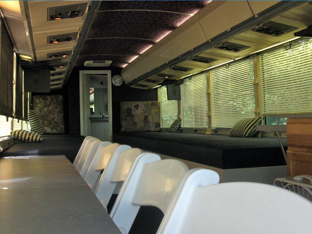 Motor Coach interior dining