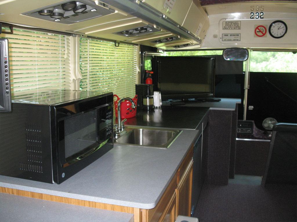 Motor Coach interior kitchen