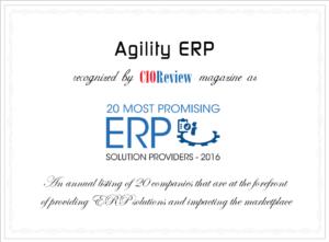 Agility ERP - 20 most promising erp