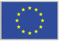 This is the European Union Flag. There are stars arranged in a circle on a blue background.