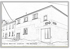 This is the line drawing of the old headquarters of Bend All Automotive.