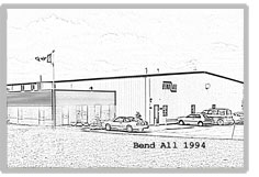 This is a line drawing of the Bend All Automotive building in 1994