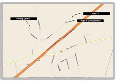 This is a map to the Ayr location of Bend All from the 401