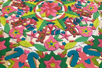 Gingerbread pastiallage colorful pattern