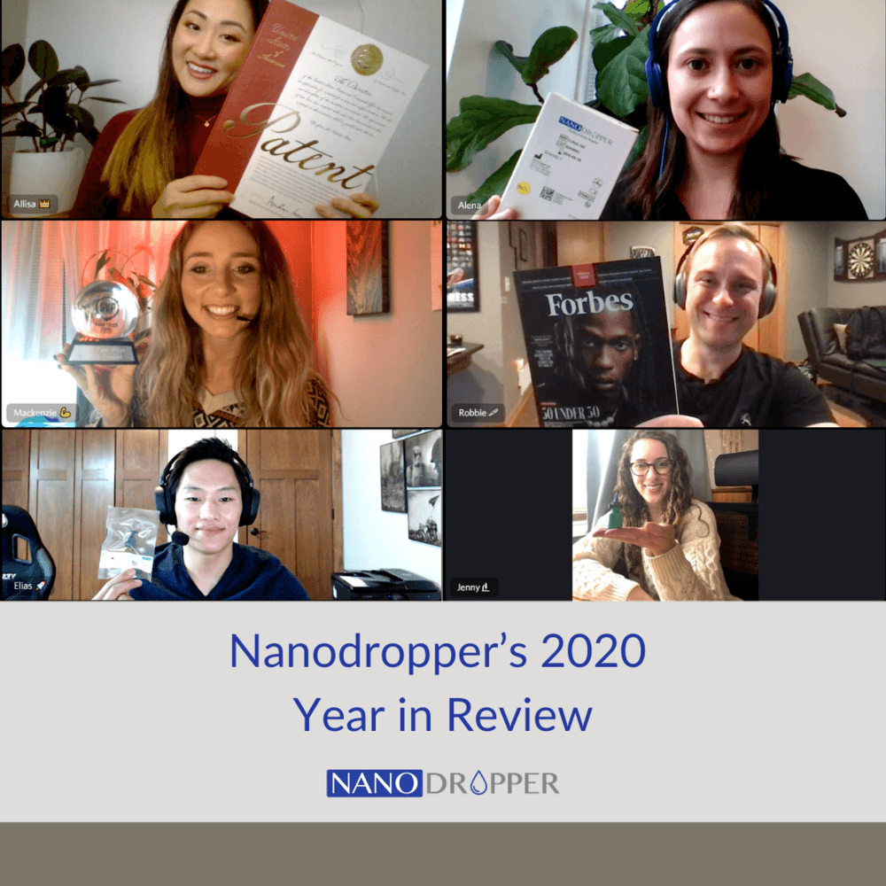 Nanodropper's 2020 Year in Review