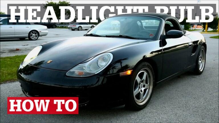 Porsche 986 & 996 Headlight Bulb Replacement