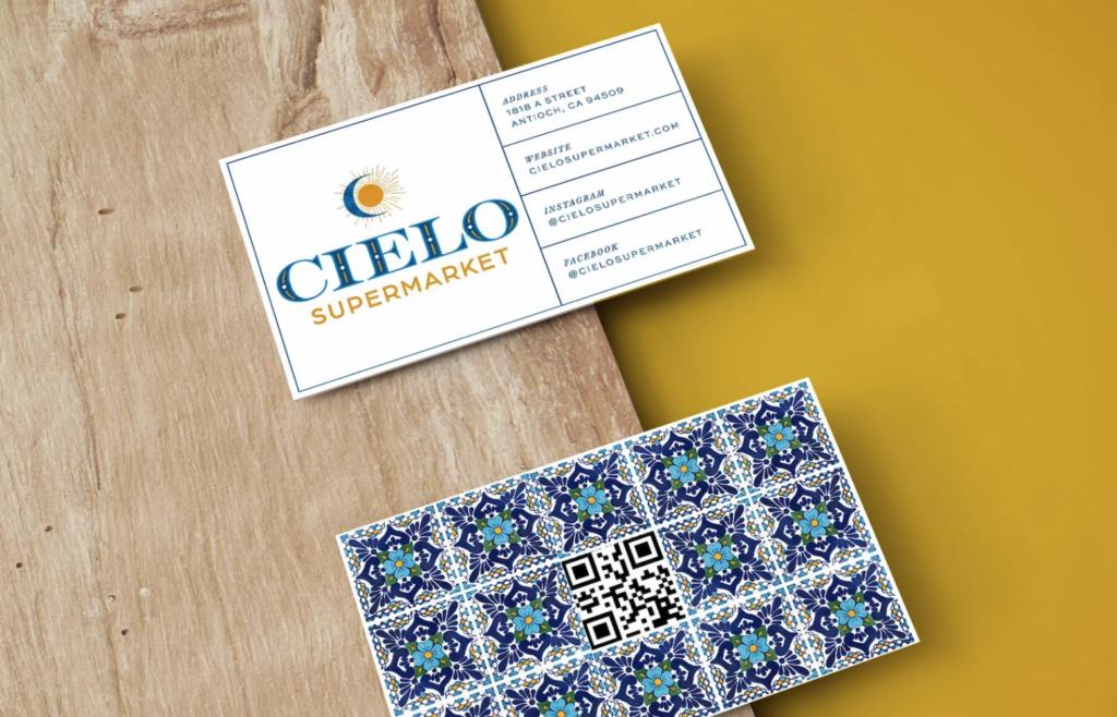 Cielo Supermarket Business Cards