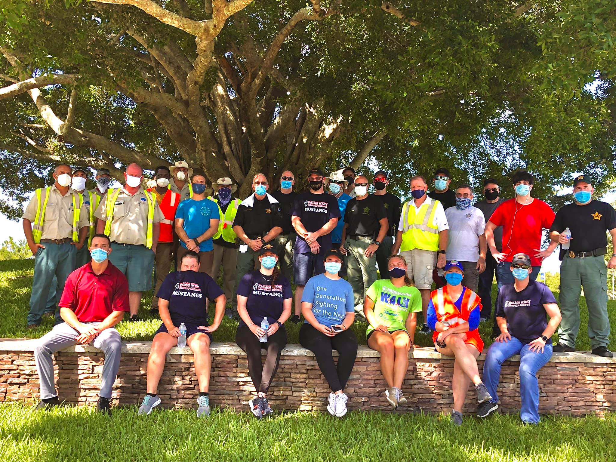 Volunteers with veterans' organization improve Delray Beach children's garden