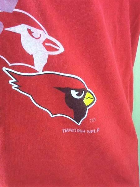 1994 Vintage Arizona Cardinals Shirt (Med) Retro NFL Shirt (Date)