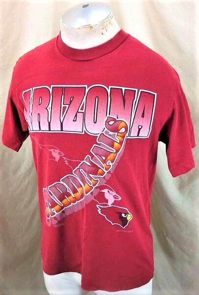 1994 Vintage Arizona Cardinals Shirt (Med) Retro NFL Shirt (Side)