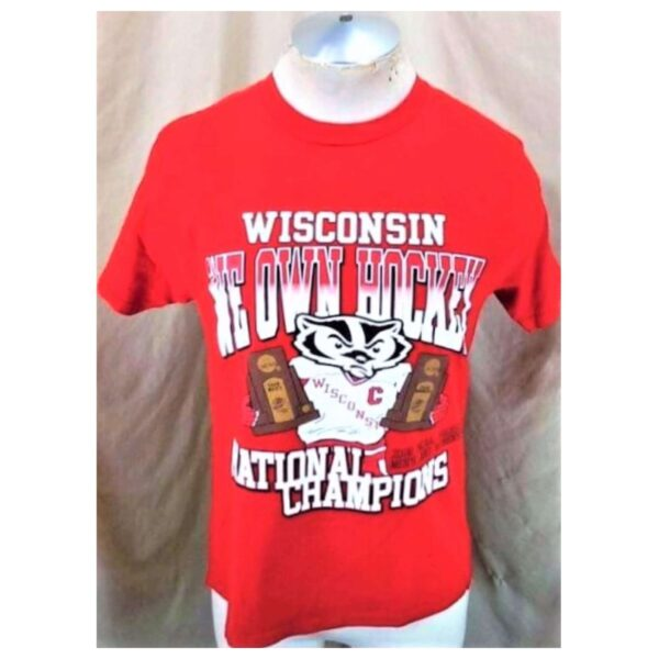 2006 Wisconsin Badgers National Champions (Med) We Own Hockey College T-Shirt (Cover)