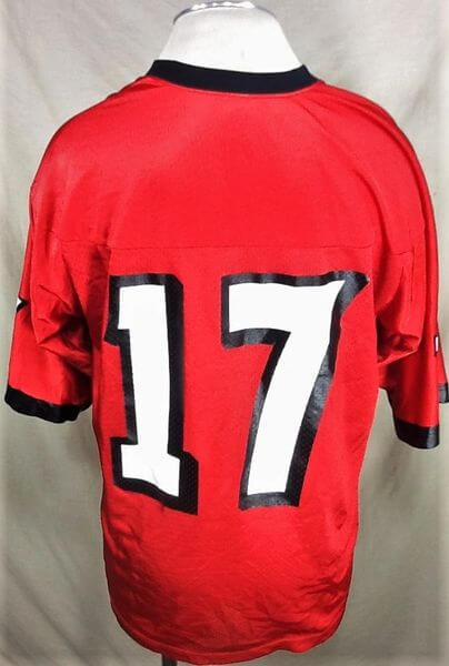 Nike Texas Tech Red Raiders #17 (Large) Retro NCAA College Football Jersey (Back)