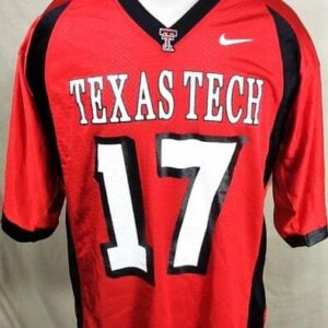 Nike Texas Tech Red Raiders #17 (Large) Retro NCAA College Football Jersey (Front)
