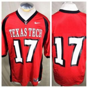 Nike Texas Tech Red Raiders #17 (Large) Retro NCAA College Football Jersey (Main)