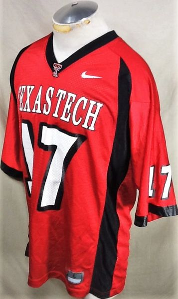 Nike Texas Tech Red Raiders #17 (Large) Retro NCAA College Football Jersey (Side)