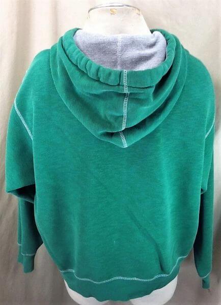 North Dakota Fighting Sioux Hockey (Large) Stitched College Hooded Sweatshirt (Back)