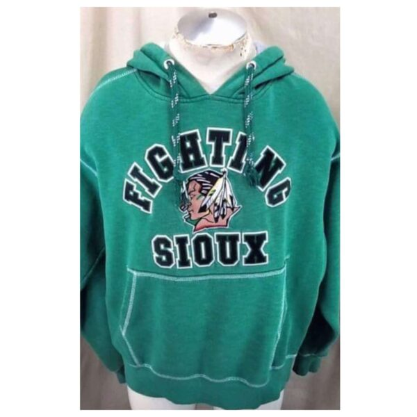 North Dakota Fighting Sioux Hockey (Large) Stitched College Hooded Sweatshirt (Cover)