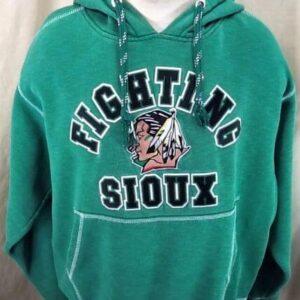 North Dakota Fighting Sioux Hockey (Large) Stitched College Hooded Sweatshirt (Main)
