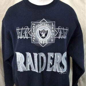 Vintage 1992 Oakland Raiders Football (XL) Retro Crew Neck NFL Sweatshirt (Main)