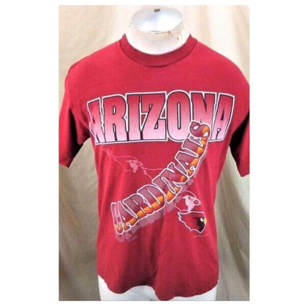Vintage 1994 Arizona Cardinals Football (Med) Retro NFL T-Shirt Red (Main)