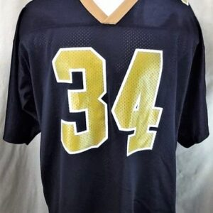 Vintage 1999 New Orleans Saints Ricky Williams #34 (XL) Retro NFL Football Black Jersey (Front)