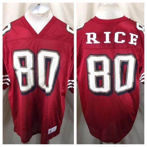 Vintage 90's Jerry Rice #80 (XL) Retro San Francisco 49ers Football Jersey (Main)