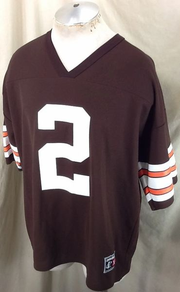 Vintage 90's Logo Athletic Tim Couch #2 (XL) Cleveland Browns NFL Football Jersey (Side)
