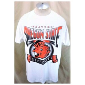 Vintage 90's Tultex Oregon State Beavers (XL) Retro College Apparel Graphic T-Shirt (Cover)
