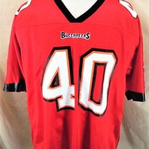 Vintage Champion Mike Alstott #40 (Med) Tampa Bay Buccaneers Jersey (Front)