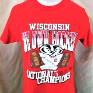 2006 Wisconsin Badgers National Champions (Med) We Own Hockey College T-Shirt (Main)