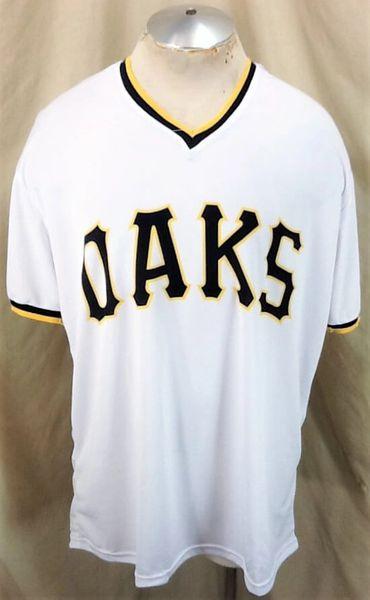 2018 Iowa Cubs Promo Iowa Oaks #50 (XL) Chicago Cubs Triple-A White Jersey (Front)