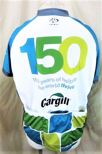 Cargill Seed Company Bike Apparel (2XL) Zip Up Graphic Cycling Jersey (Back)