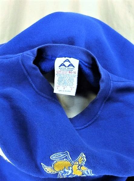 Minnesota Fighting Saints Hockey (Large) Retro Crew Neck Knit Sweatshirt (Tag)