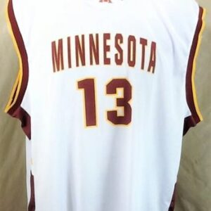 Minnesota Gophers Lindsay Whalen #13 (2XL) Retro College Basketball White Jersey (Front)