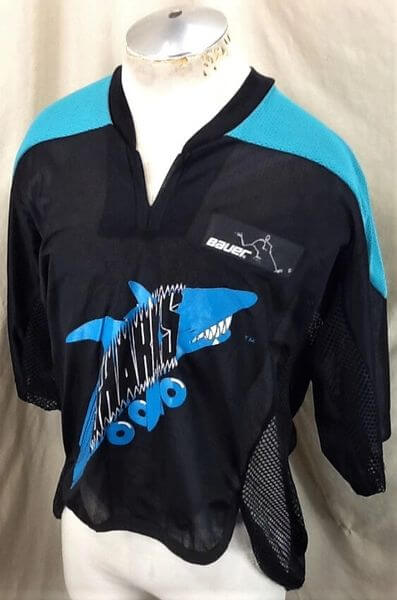 San Jose Sharks Roller Hockey (Large) Vintage NHL Bauer Off Ice Hockey Jersey (Side)