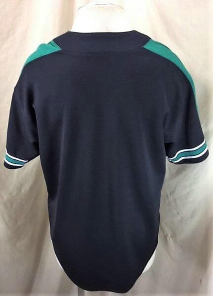 Starter North Dakota Fighting Sioux (Large) College Button Up Baseball Jersey (Back)
