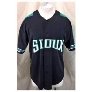 Starter North Dakota Fighting Sioux (Large) College Button Up Baseball Jersey (Main)