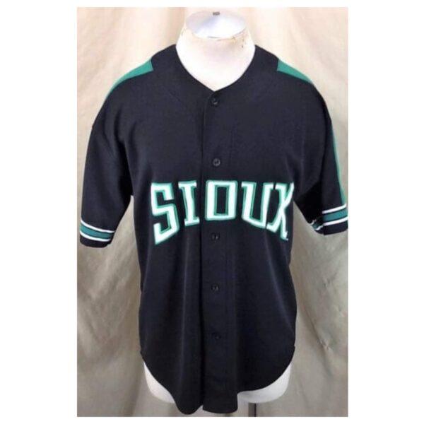 Starter North Dakota Fighting Sioux (Large) College Button Up Baseball Jersey (Main)