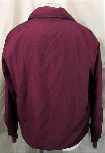 Vintage 1980's Minnesota Golden Gophers (Large) Retro College Snap Up Nylon Jacket (Back)