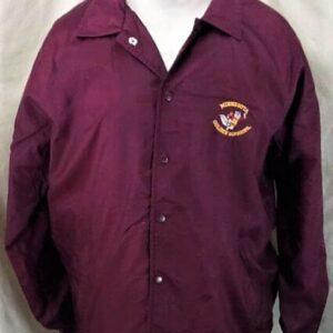 Vintage 1980's Minnesota Golden Gophers (Large) Retro College Snap Up Nylon Jacket (Front)
