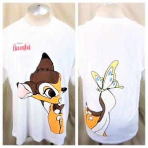Vintage 1980's Walt Disney's Bambi (XL) Cartoon Classic Single Stitch T-Shirt (Main)