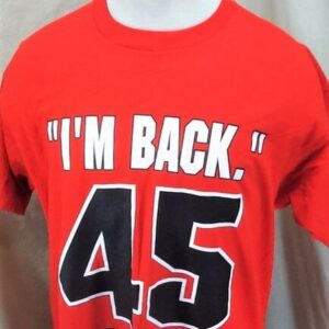 Vintage 1995 Michael Jordan I'm Back (XL) Retro Chicago Bulls Single Stitch T-Shirt (Close Up)