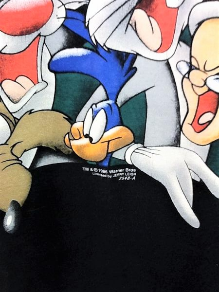 Vintage 1996 Looney Tunes Cast of Character (Large) Iconic Cartoon Single Stitch T-Shirt (Date)