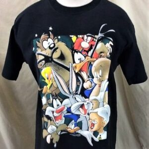 Vintage 1996 Looney Tunes Cast of Character (Large) Iconic Cartoon Single Stitch T-Shirt (Front)