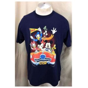 Vintage 1996 Looney Tunes Cast of Character (Large) Iconic Cartoon Single Stitch T-Shirt (Main)